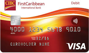 debit card firstcaribbean international bank visa debit