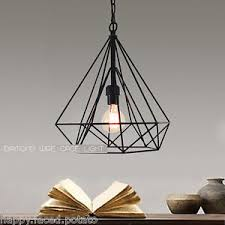 Pendant Light Wire Geometric Wire Cage Pendant Light Ceiling Chandelier