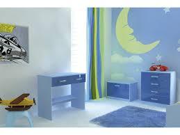 high gloss blue 5 piece boys bedroom furniture set