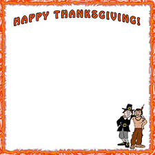 thanksgiving border page borders thanksgiving and pilgrim