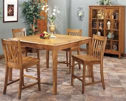intercon solid oak counter height dining set cambridge incb5454gset