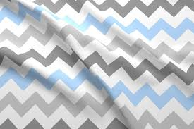 gray blue chevron fabric stickelberry spoonflower