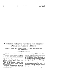 generalized anhidrosis associated with hodgkin u0027s disease and