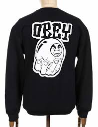 obey clothing obey clothing unwritten future sweatshirt black clothing from