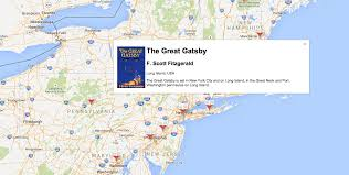 Goofle Map A Google Map Of All Your Favorite Books U2013 Electric Literature
