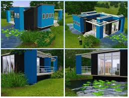 mod the sims vivid colors three modern and colorful houses