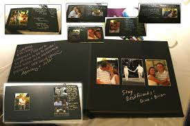 wedding guest book photo album guest book i would guests take polaroids of themselves to