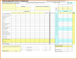 Personal Expense Report by 6 Excel Expense Report Itinerary Template Sample