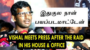 Income Tax Meme - mersal controversy vishal pressmeet after income tax raid in his