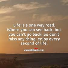 liebes spr che status is a one way road enjoy every second of the way