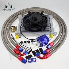 oil cooler fan kit 30 row 10an universal engine transmission oil cooler kit 7
