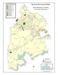 York Pennsylvania Map by Map Of Township Parks U2013 West Manchester Township