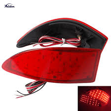 red lexus is 250 2x red lens led rear bumper reflector tail brake stop light for