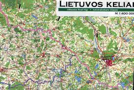 Map Of Lithuania Maps Bayl