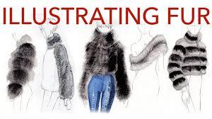 fashion illustration tutorial fur u0026 shearling youtube