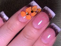 acrylic nail designs for thanksgiving beautify themselves with