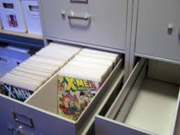 comic book storage cabinet buy used office furniture and use a foam divider in a legal size