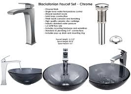 Bathtub Faucet Height Standard Sheer Black Glass Vessel Sink