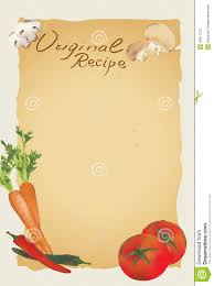 recipe blank page stock vector image 55817570