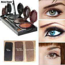 3 In 1 Waterproof Smooth Eye Liner 3 Colors Eyeliner Gel Makeup
