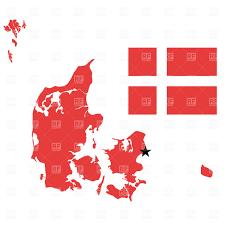 map and flag kingdom of denmark vector clipart image 857 u2013 rfclipart