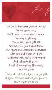 register for money for wedding 5 x wedding poem cards for invitations money gift honeymoon