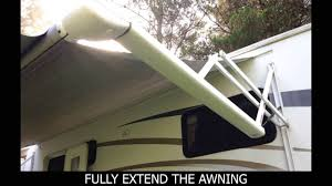 Trailer Awning Fabric Replacement How To Replace An Electric Awning Fabric Youtube