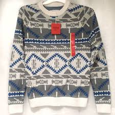 supply co sweaters mossimo supply co mossimo fair isle aztec tribal s sweater