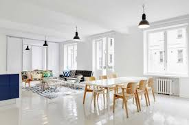Dining Room Ideas In Private House by This Open Loft Space With Lots Of White And A Few Bright Pillows