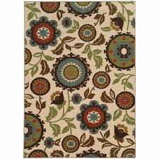 Nature Area Rugs Shop Archer Front Ivory Indoor Nature Area Rug Common 8 X