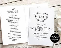 wedding invitation program printable wedding invitations programs and signs by vinewedding