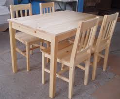 Pine Wood Dining Room Sets Top  Best Dining Tables Ideas On - Pine kitchen tables and chairs