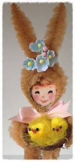 chenille easter easter bunny vintage inspired chenille easter by saturdayfinds