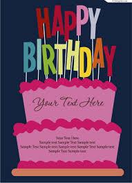 4 designer birthday card design vector material