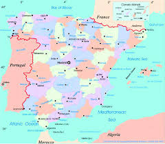 detailed big size spain map and flag u2013 travel around the world