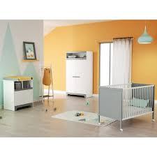 chambre lit chambre bébé complète 3 pièces gris lit 60x120 cm armoire
