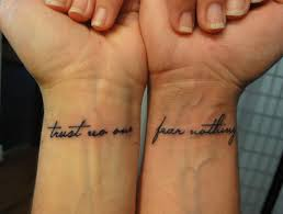 trust no one fear nothing tattoos trust