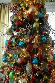 trees decorated professionally with presents