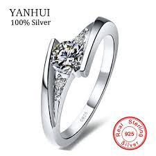 silver rings set images Big hot sale yanhui 100 pure 925 sterling silver ring set jpg