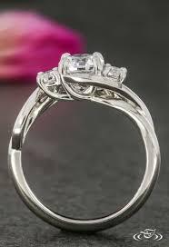 cool engagement rings images Platinum three stone diamond twist engagement ring green lake jpg
