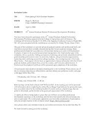 formal dinner invitation letter professional employee reference
