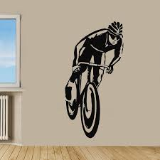 bicycle decorations home cycling bicycle vinyl sticker wall art home art is and products