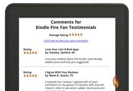 kindle fire fan testimonials