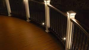 trex post cap lights deck lighting led solar step rail recessed post cap more