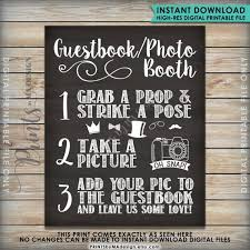 photo booth sign guestbook photobooth sign chalkboard style guestbook photo booth