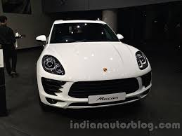 porsche macan white porsche macan front in india indian autos blog