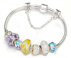 beads charm bracelet images Yellow murano glass beads charm beaded bracelets for jpg
