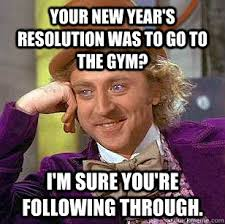 New Years Gym Meme - fitness love your temple