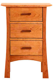 Cherry Wood Nightstands 3 Drawer Nightstands Craftsman Style Real Cherry Wood