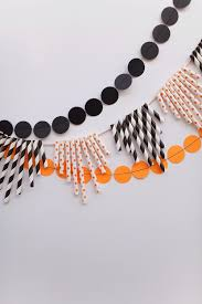 tell halloween paper straw garland tell love and partytell love